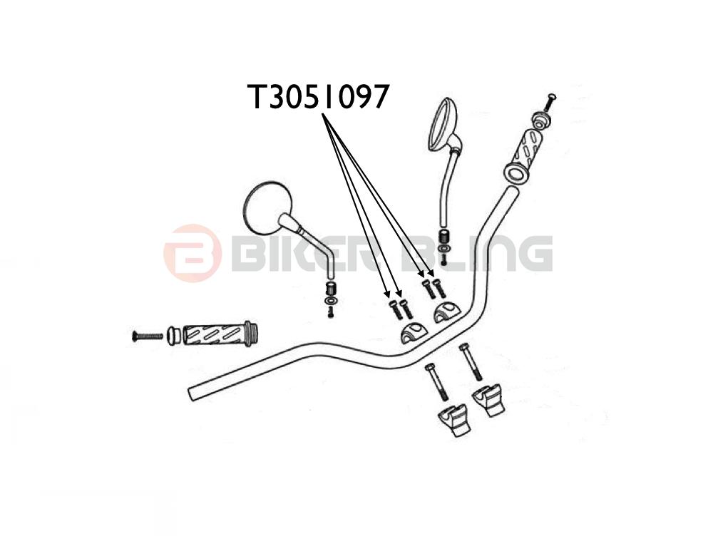 BMW F700GS K70 2013-2015 stainless steel top yoke handlebar clamp bolts